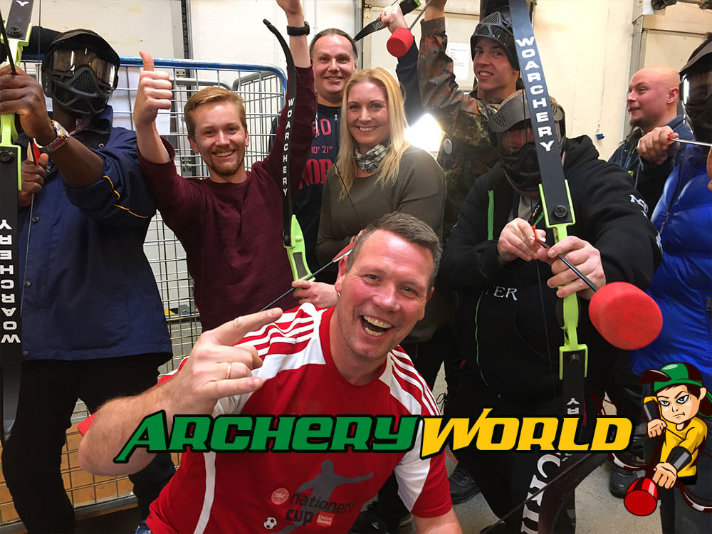 Archery World til firmafesten med Bowcombat