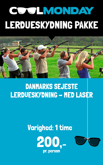 Lerdueskydning med laser - Blå mandag