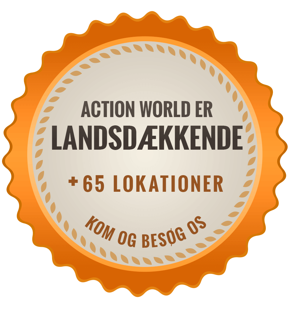 Landsdækkende action + 65 lokationer