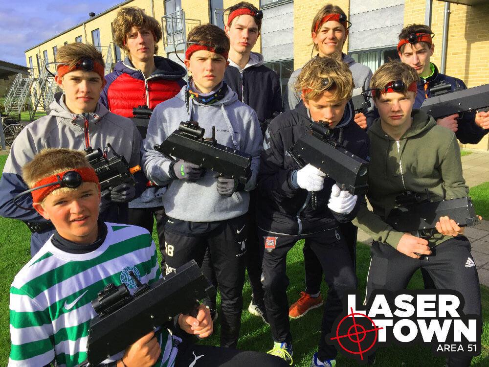 efterskole til lasergame battle