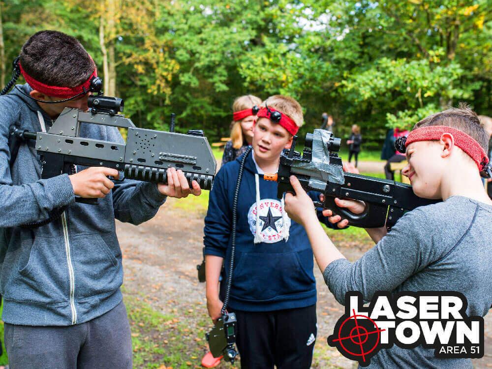Aktivitet til skoler og klubber: lasergame