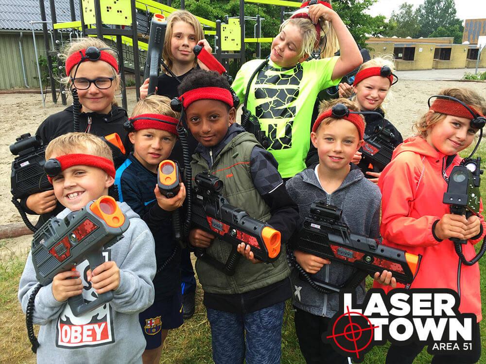 Børnefødselsdag aktivitet lasergame