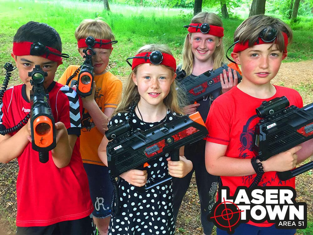 Børnefødselsdag: Lasergame