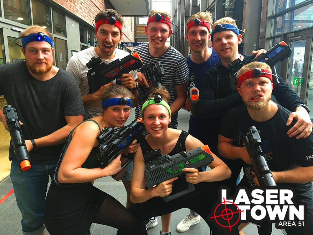 Spil lasergame i virksomheden