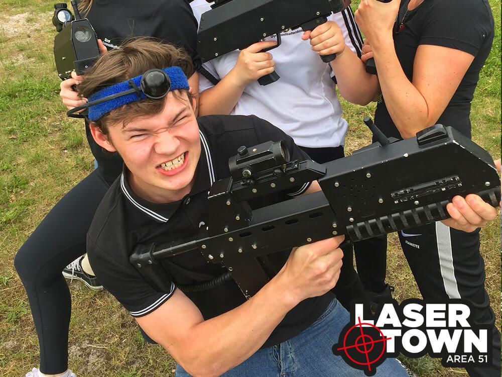 Lasergame på Blå Mandag