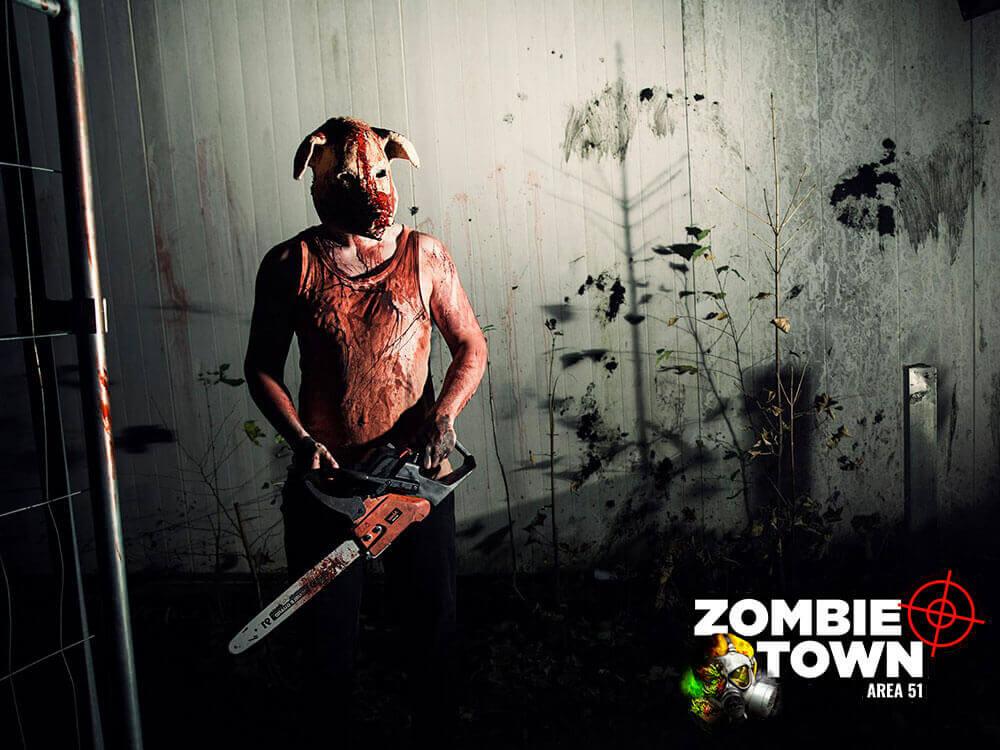 Zombie town: Lasergame og Zombie jagt