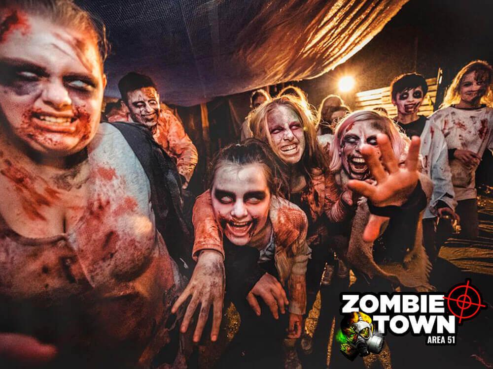 Lasergame og zombie jagt