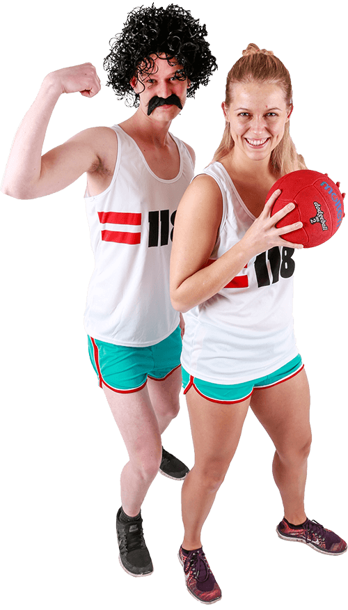 dodgeball med dodgeball par
